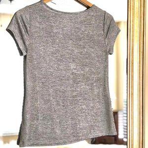 Women's Gray Sparkle Blouse